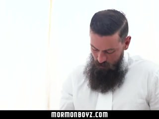 Mormonboyz - Barely legal missionary cums while being fucked