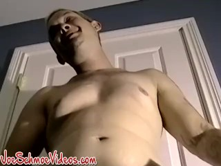 Amateur blond jerking off with his buddy and  being sucked
