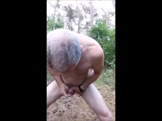 naked public outdoor wood exhibitionist twink cumshot cumeater