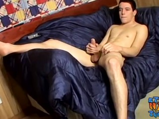 Cis young Tygger cumming hard after solo masturbation