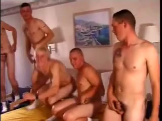 A group of gays fuck each other's butts and jerks their dicks off