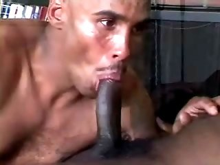 Two bald black gay studs fuck after sucking each other's boners