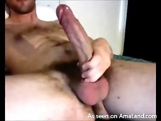 Hunk With a Massive Cock Shows Off While Masturbating