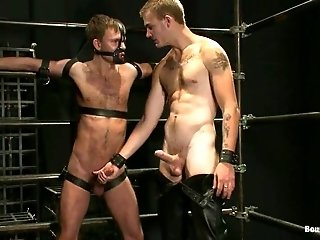 Christian Wilde tortures nasty twink Zach Alexander and drills his ass