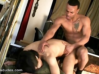 Asian fairy sucks a BBC before taking it in his tight ass