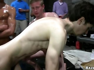 Dark-haired twink blows and takes a ride on a hard cock